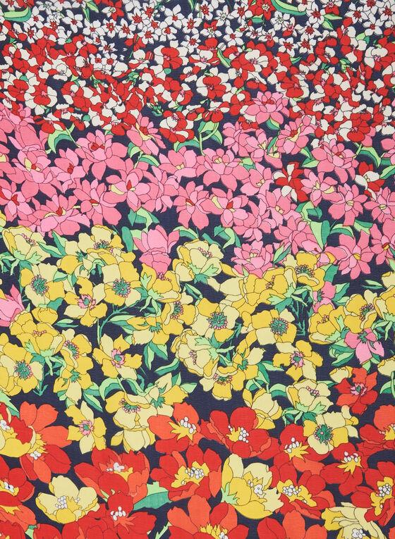 Flower Field Print Lightweight Scarf, Multi