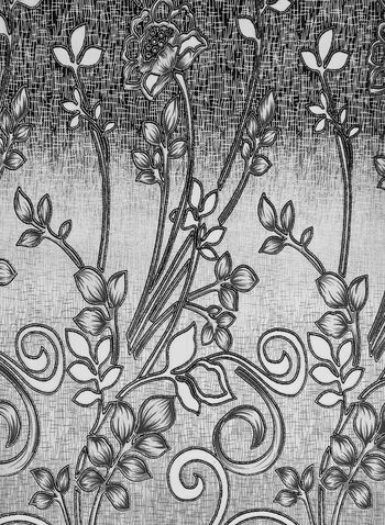 Glitter Flower Print Scarf, Grey,  glitter, scarf, glitter scarf, printed scarf, floral print, print, fall 2019, winter 2019