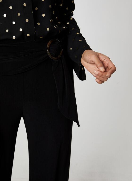 Pantalon en jersey à jambe large, Noir