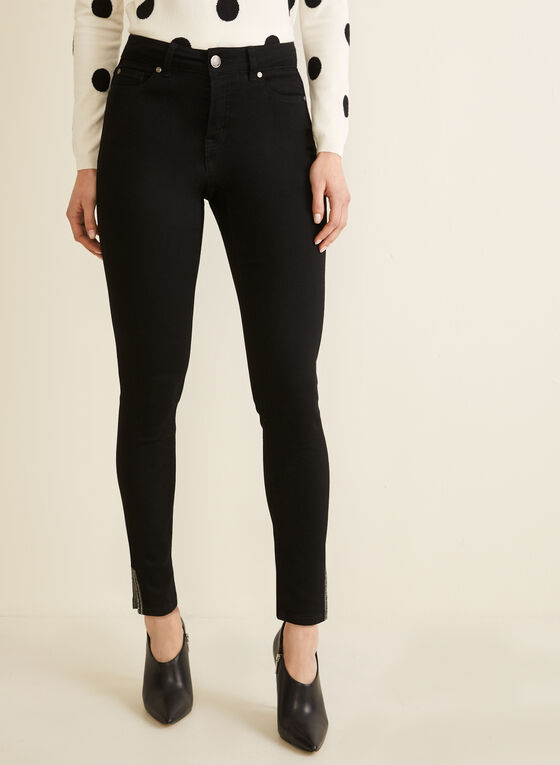Slim Leg Jeans , Black