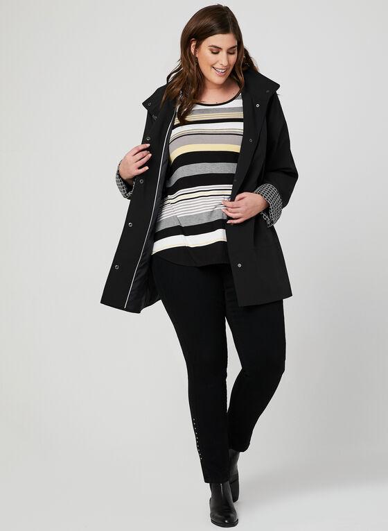 Hooded Raincoat, Black, hi-res
