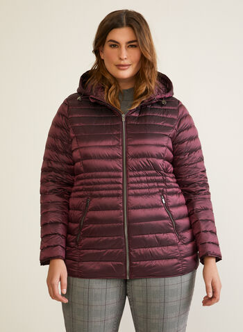 Packable Down Coat, Purple,  coat, quilted, down, packable, fall winter 2020