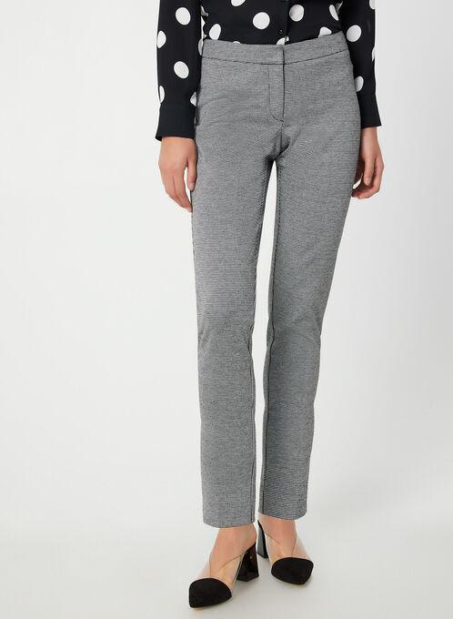 Pantalon à motif pied-de-poule, Noir