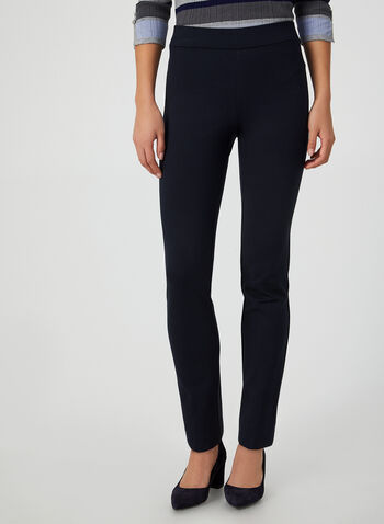 Ponte de Roma City Fit Pants, Blue,  canada, slim leg pants, city fit, pants, elastic pants, ponte de roma, fall 2019, winter 2019