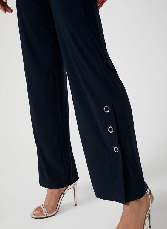 Pantalon à jambe large et boutons-pression, Bleu, hi-res