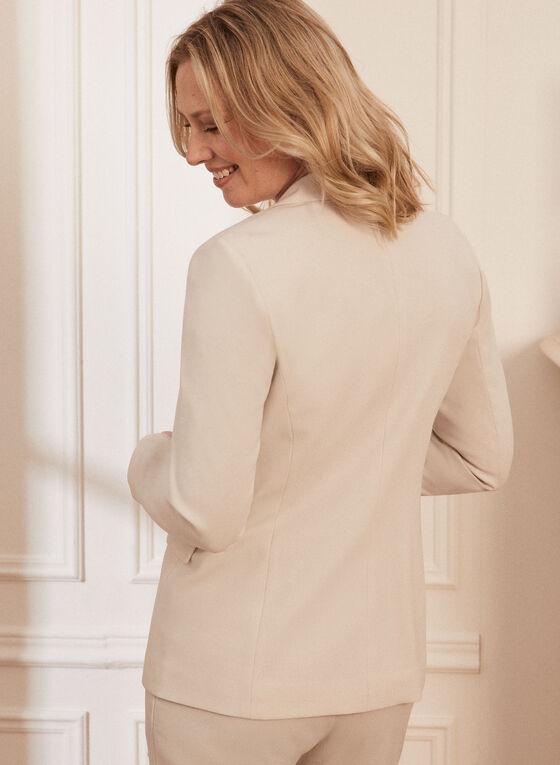 Single Button Notch Collar Jacket, Off White