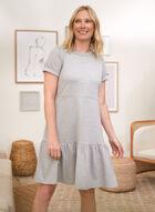 Ruffled Hem Dress, Grey