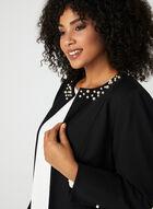 Pearl Embellished Duster Jacket, Black, hi-res