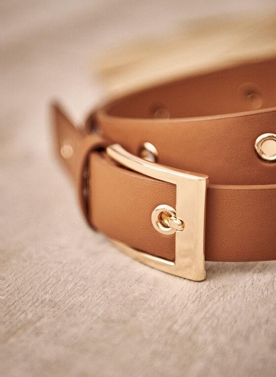 Eyelet Detail Belt, Brown