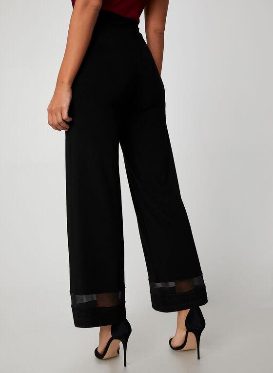 Mesh Wide Leg Pants, Black