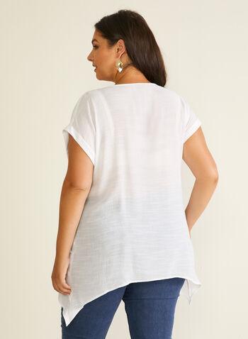 Joseph Ribkoff - Tunique édentée à boutons, Blanc,  blouse, tunique, bouton, poche, édenté, printemps été 2020