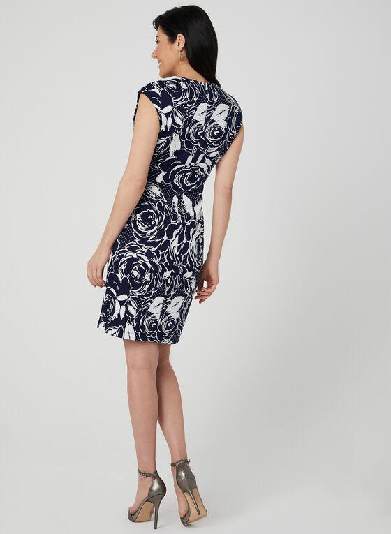 Floral Print Sheath Dress, Blue, hi-res