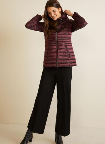 Manteau compressible en duvet, Violet,  automne hiver 2020, manteau, capuchon, matelassé, compressible