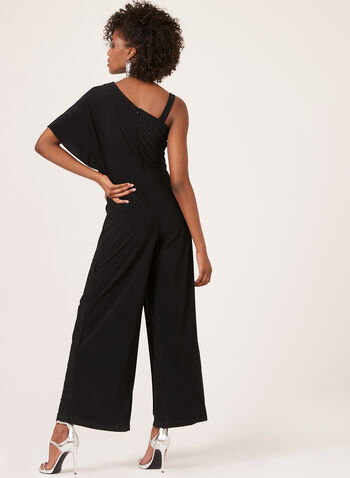One Shoulder Jumpsuit, Black, hi-res