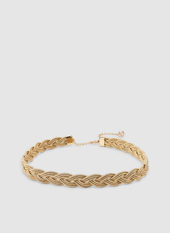 Metallic Braided Belt, Gold,  belt, braided, metallic, fall 2019, winter 2019, shiny