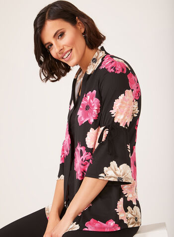 Floral Print Fooler Blouse, Multi, hi-res
