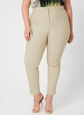 Signature Fit Straight Leg Pants, Off White, hi-res