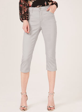 Simon Chang – Denim Capri Pants, Grey, hi-res