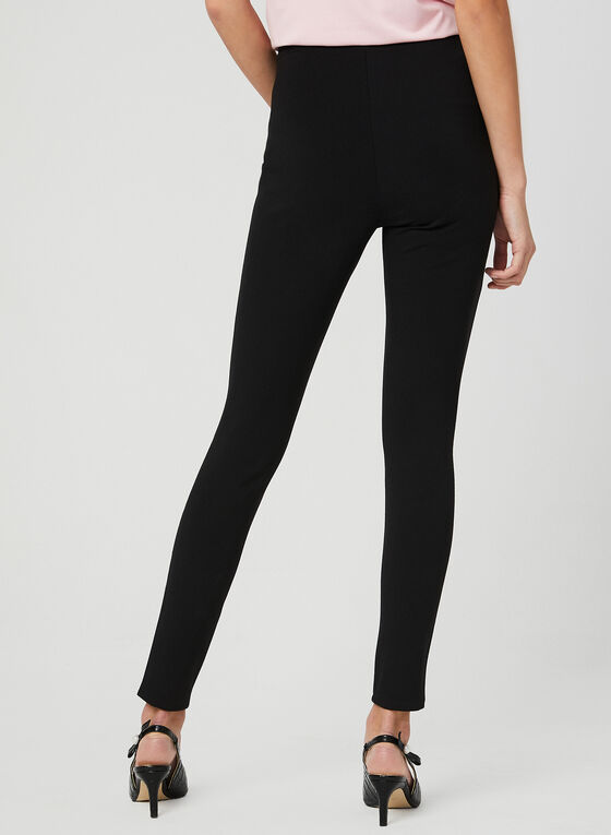 Pearl Detail Leggings, Black, hi-res