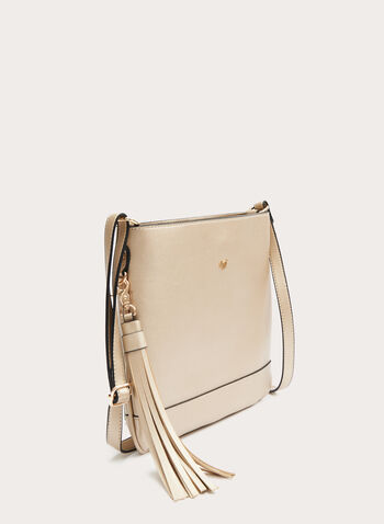 Crossbody Bag With Removable Tassel, Gold, hi-res