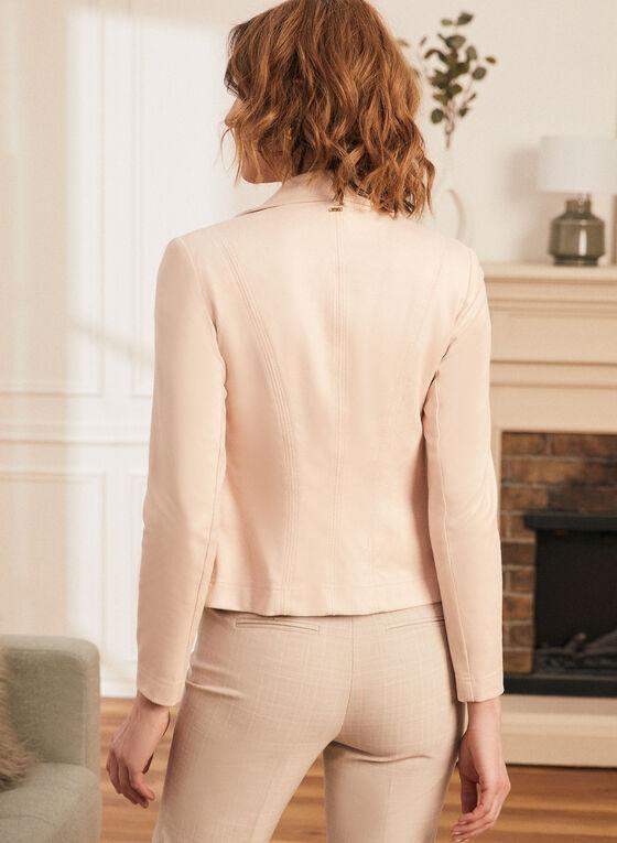 Vex - Blazer en faux cuir et détails zips, Rose