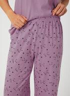 Bellina - Cat Print Pyjama Set, Purple, hi-res
