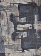 Foulard léger motif abstrait, Bleu