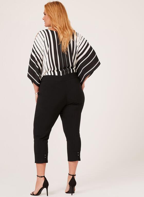 Capri pull-on à détails couture, Noir, hi-res