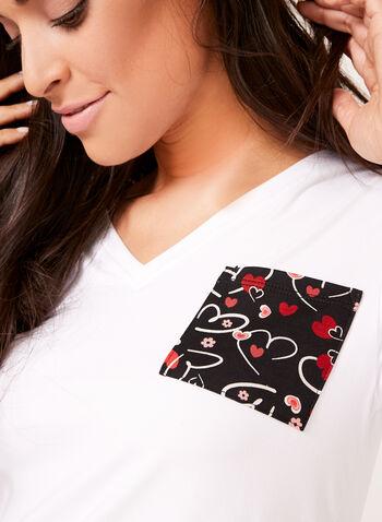 IB Diffusion - Heart Print Pajama Set, Black, hi-res