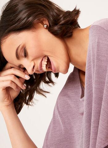 Blouse poncho superposée en tricot, , hi-res