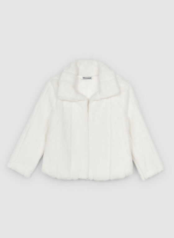 Nina Leonard - Faux Fur Bolero, Off White