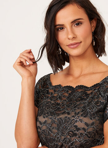 Ombré Lace Sheath Dress, , hi-res