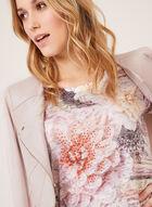 Vex - T-shirt motif floral et détails strass, Multi, hi-res