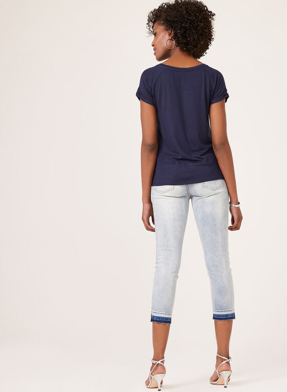 T-shirt à manches raglan , Bleu, hi-res