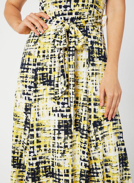 Nina Leonard - Abstract Print Dress, Yellow