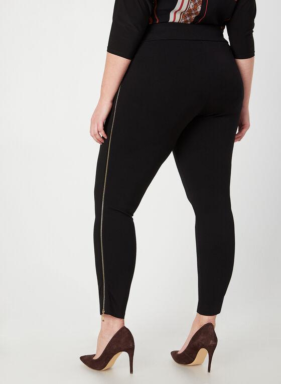 Zipper Detail Leggings, Black, hi-res
