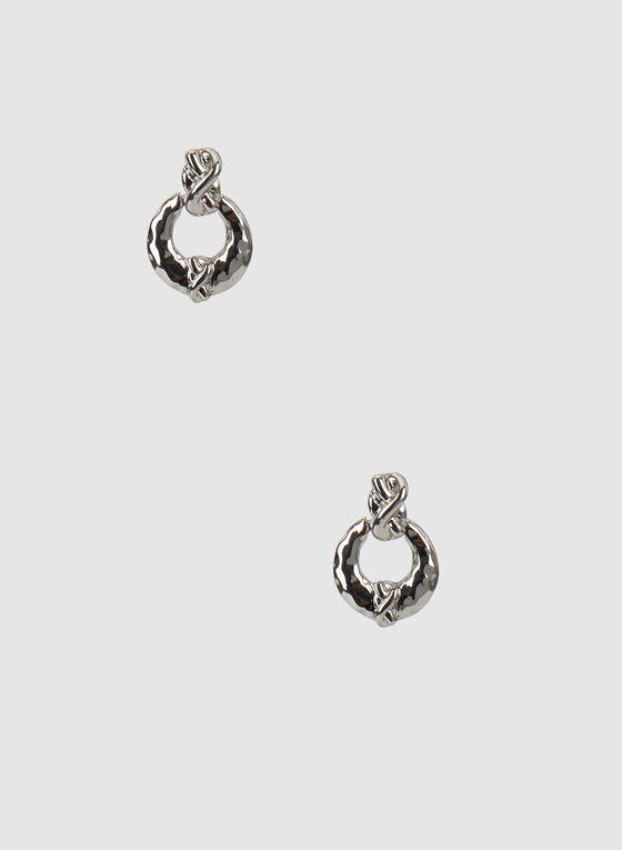 Door Knocker Earrings, Silver