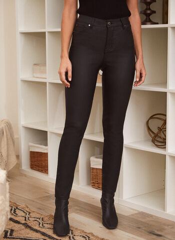 Slim Leg Jeans, Black,  pants, jeans, slim  leg, 5 pocket design, zip fly, belt loops, fall winter 2021