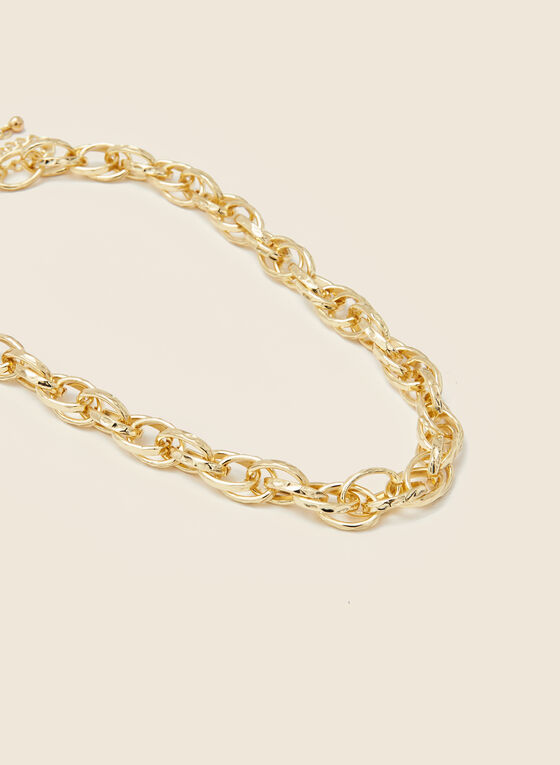 Large Link Golden Necklace, Gold