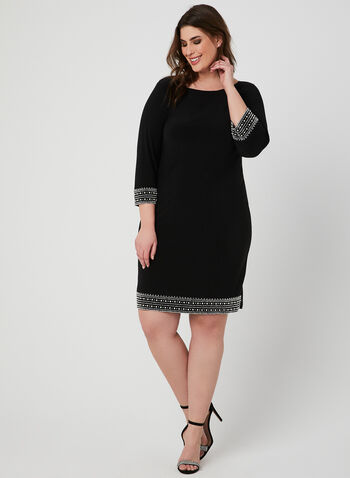 Embellished Jersey Dress, Black, hi-res