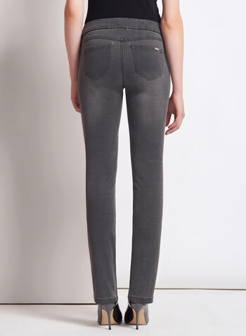 Pull-On Slim Leg Ankle Jeans, , hi-res