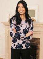 Floral Print Sweater, Purple