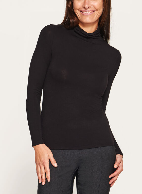 Vex - Long Sleeve Turtleneck, Black, hi-res