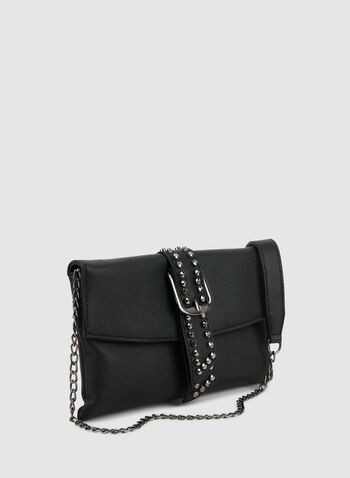 Belt Detail Clutch, Black,  fall winter 2019, clutch, evening bag