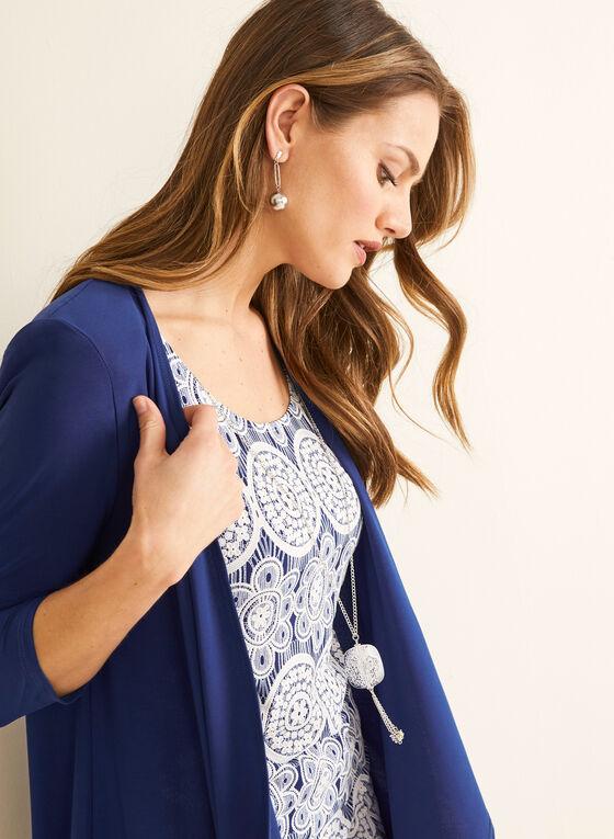 Dress & Cardigan Set, Blue