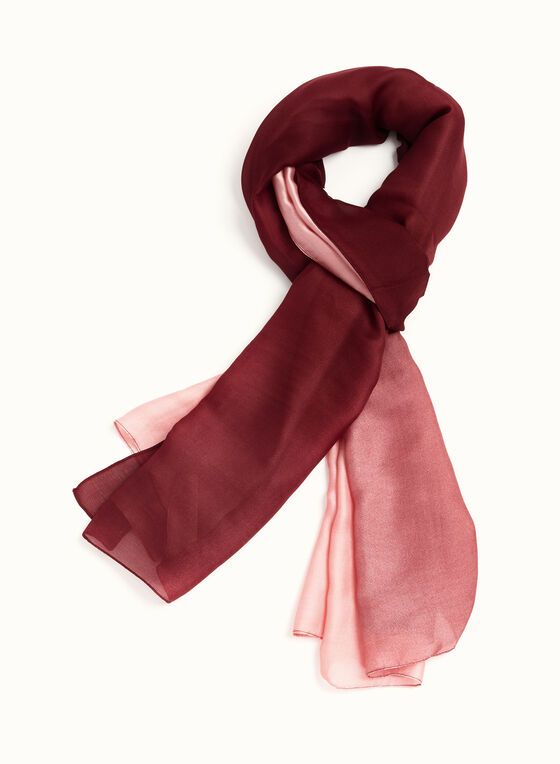 Ombré Wrap Scarf, Red, hi-res