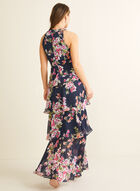 Tiered Floral Maxi, Blue