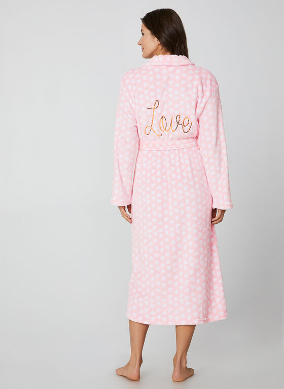 Hamilton - Heart Print Bathrobe, Pink
