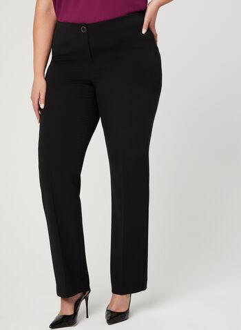 Modern Fit Straight Leg Pants, Black, hi-res,