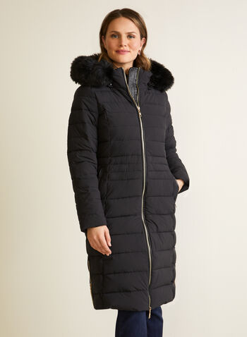 Nuage - Manteau extensible en duvet recyclé, Noir,  automne hiver 2020, manteau, manteau d'hiver, matelassé, capuchon, fausse fourrure, poches, similicuir, faux cuir, Nuage, zip, glissière, végane, duvet, Technofill, recyclé